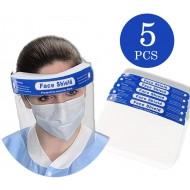 Reusable Face Shield, Plastic Safety Face Shield Reusable Full Face Transparent Breathable Visor Windproof Dustproof Hat Shield (200pcs)