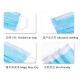 Filter Mask 3-Ply Disposable Face Mask FDA,CE Approved Earloop Dust Mask for Doctor Cleaner (1000Pcs)