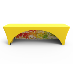 8ft Stretch Fit Quality Custom Logo Full Color Printed Table Cover