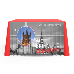 4ft Quality Custom Logo Full Color Printed Loose Table Throw